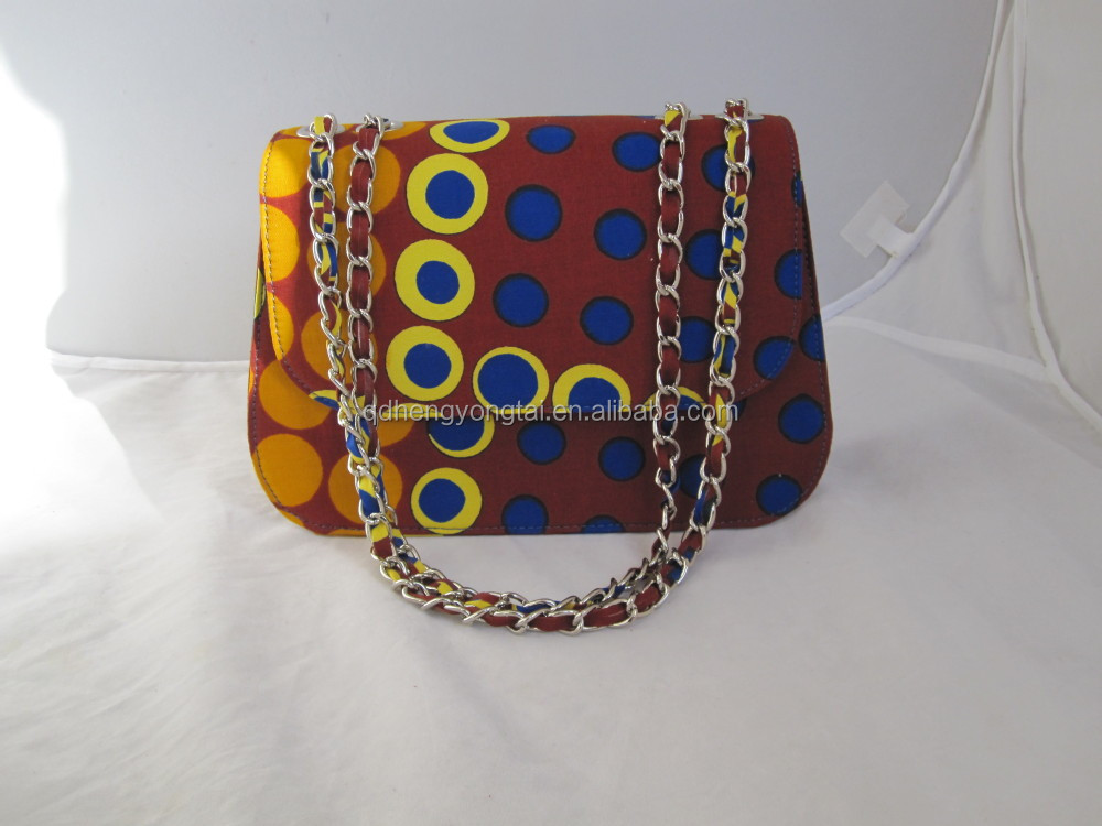2016 Famous new style cross bags for girls ankara african prints and fabric bag PU leather handbag
