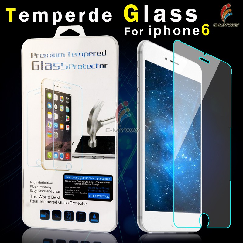 Guangzhou mobile accessories market 9h tempered glass screen protector for iphone 6 screen protector OEM/ODM
