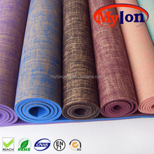 natural latex rubber products new design natural rubber jute yoga mat foldable