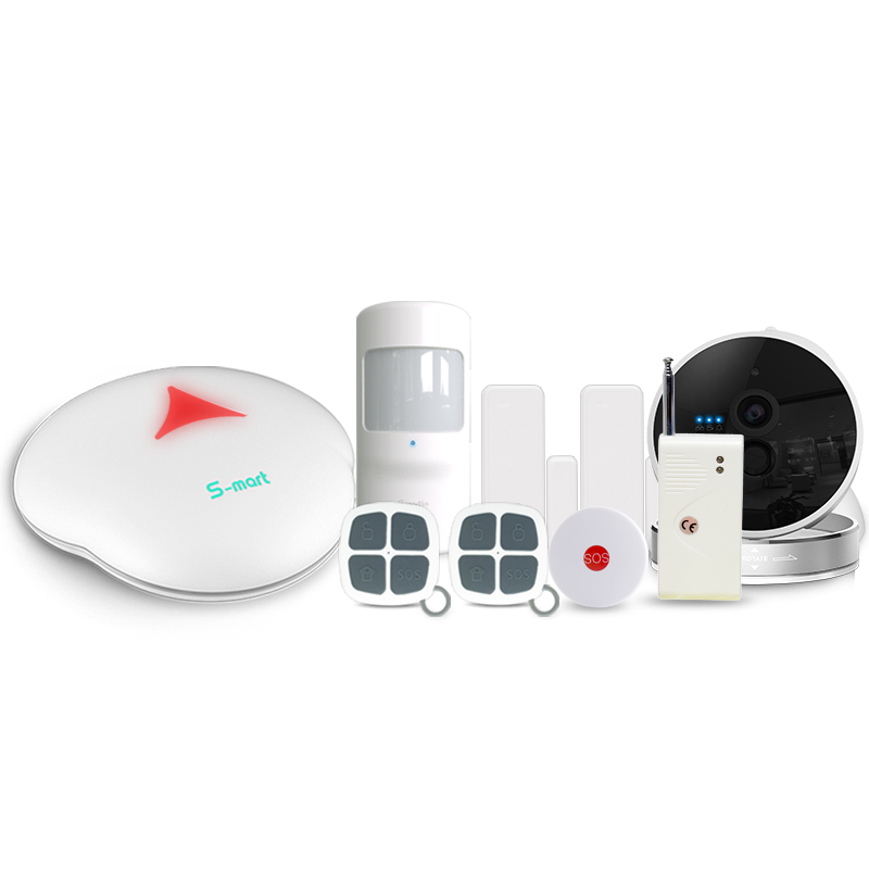 Wireless home intruder alarms system with RFID keypad & Android/IOS App control GSM intruder alarm system