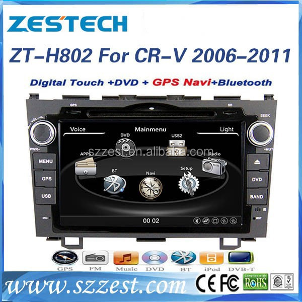 ZESTECH wholesale accessories double din car dvd for Honda CRV car dvd gps navigation system 2006 2007 2008 2009 2010 2011
