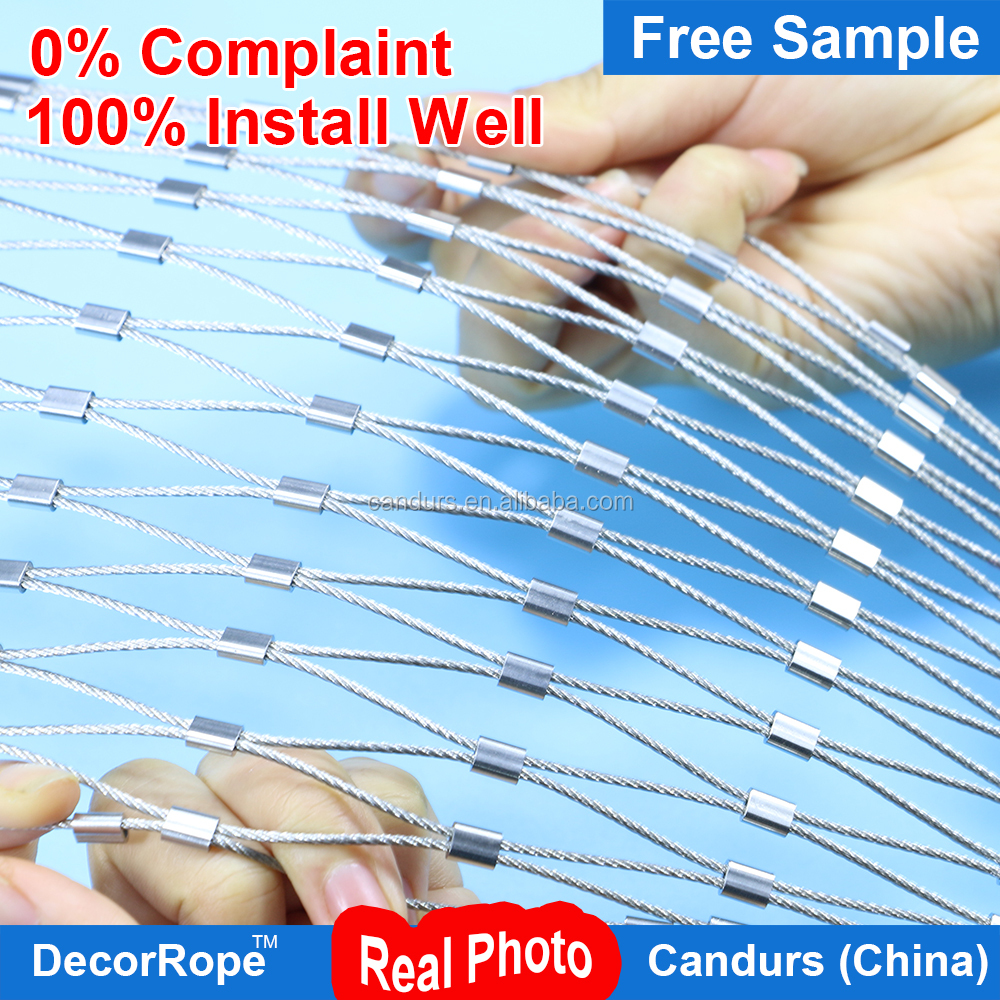 DecorRope stainles steel wire rope mesh For Bird Aviary Netting Animal Enclosure in Zoo