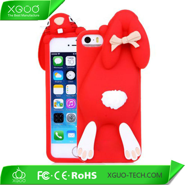lovely 3d silicon animal case for iphone 4