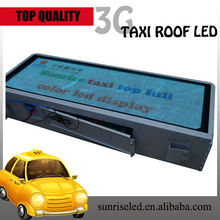 network video bus led display for advertising car audio player wifi taxi car