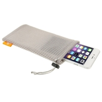 High quality Hot selling Universal Nylon Mesh Pouch Mobile Phone Bag with Stay Cord for up to 5.5 inch Screen Phone