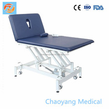Electric body choice massage table with two face holes