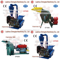 New condition diesel engine powered hammer mill for straws wood corn with CE