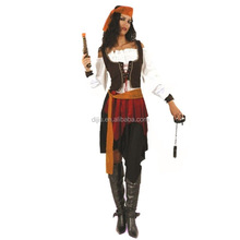 Halloween Cosplay Adult Women Pirates of the Caribbean Costume Party Fancy Dress