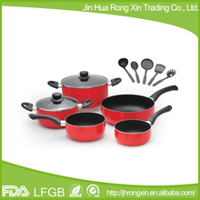12pcs alumium non-stick cookware set with non-stick coating