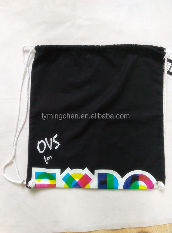 Cotton,100% cotton material and drawstring style cotton shoes bag