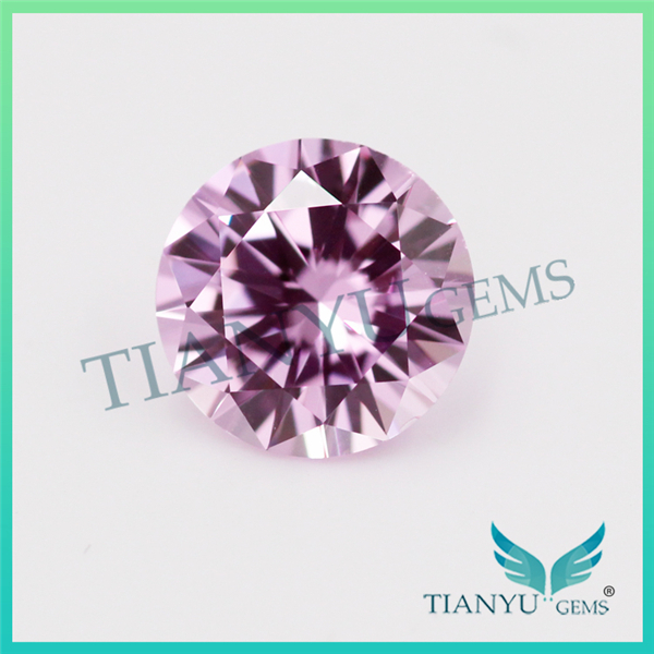 Wholesale Heat Zircon Gemstones L-Pink Round Brillian Cut Loose Synthetic Cubic Zirconia Price