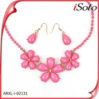 Bridal jewelry set import jewelry from china flower statement necklace