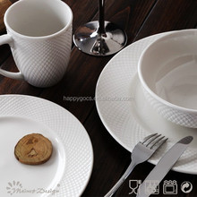 wholesale dinnerware embossed white germany fine porcelain dinner set