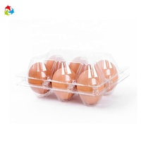 Alibaba express China plastic clear 6 holes eggs packaging crate tray food container for chicken / bulk eggs buy from China