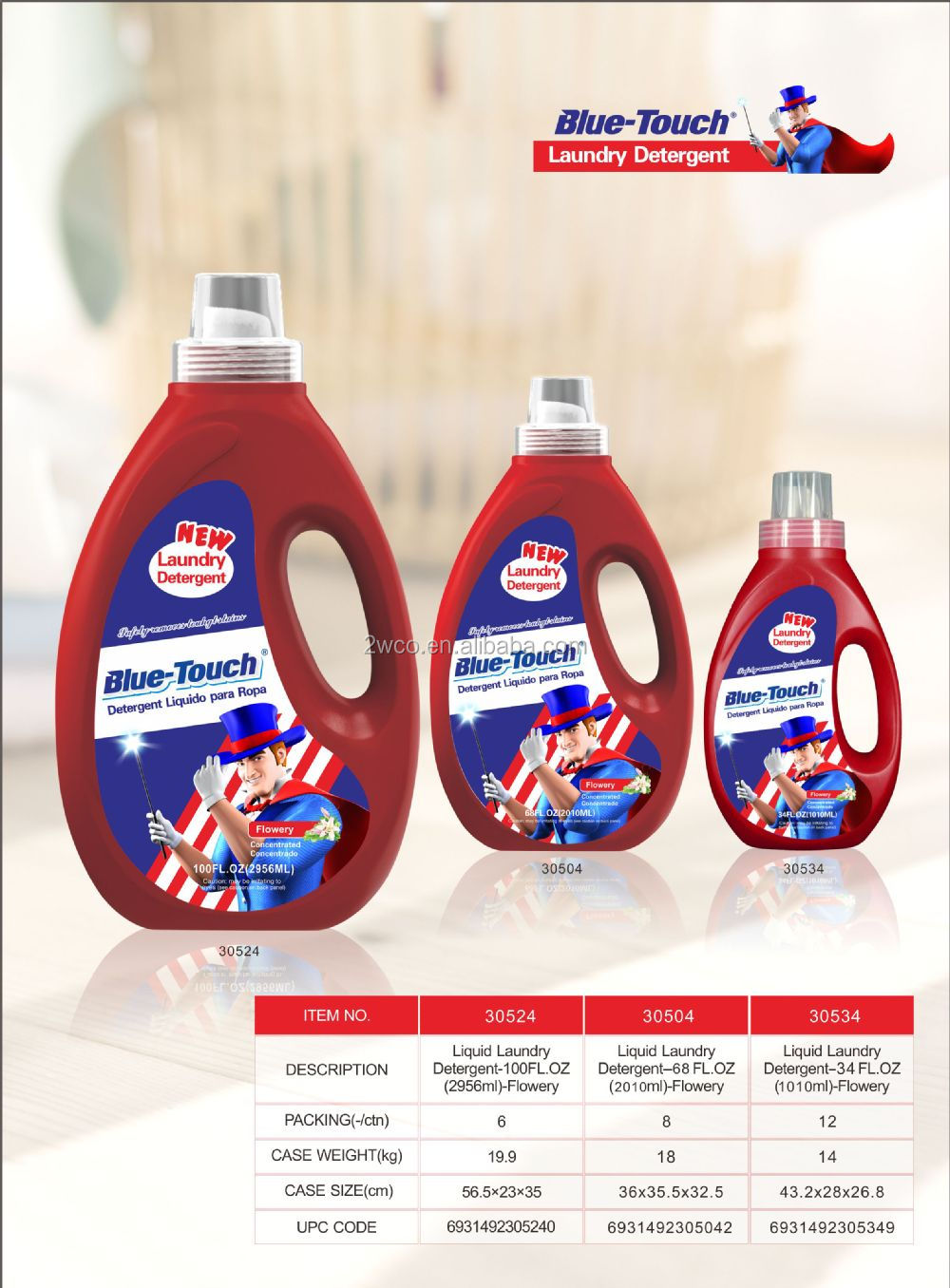 Blue-Touch New products for 2016 liquid laundry detergent