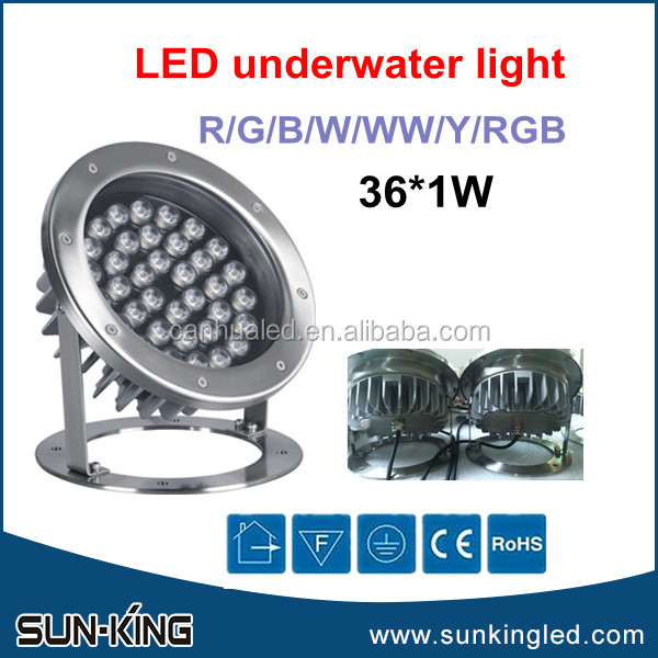 Landscape exterior waterproof spa pool RGB underwater lamp IP68 DMX led rgbw fountain light 48W 48Watts