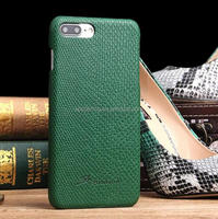 Snake skin leather case back cover for iPhone 7, Genuine leather cover for iPhone 7 Plus