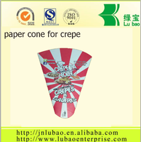 quality cardboard crepe cone paper container popular in China
