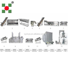 shangyu xinye 1000kg/h frozen potato production line/potato peeling and cutting machines for processing french fries