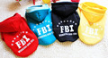 Pet Clothes FBI Working Dog USA Dog Hoodie Coat Soft Warm Clothes Dog Clothing
