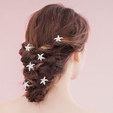 New style hot sales simple hairpins for hair star jewellery making bridal hair accessories