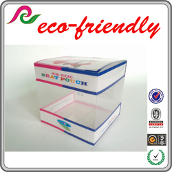 eco-friendly custom square clear plastic packaging box