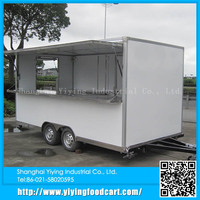 YY-FS420 Gold supplier china mobile trailer food vending carts with 3 wheels
