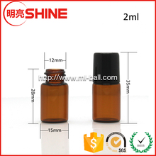 Wholesale Amber Color 2ml Perfume / Essential Oil Bottle With Roller Ball