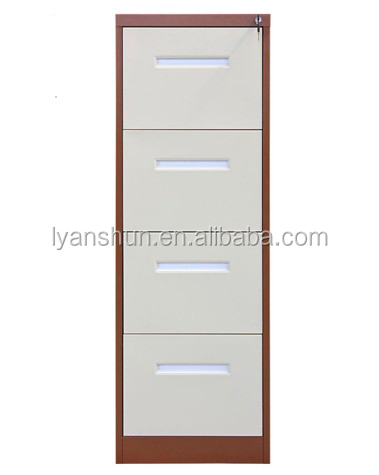 Heavy gauge metallic construction 4 drawer office hanging file cabinet for archive