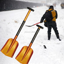 "8.3"" Aluminum Telescopic Car Snow Shovel,Kid's Garden Hand Tools with T Grip"