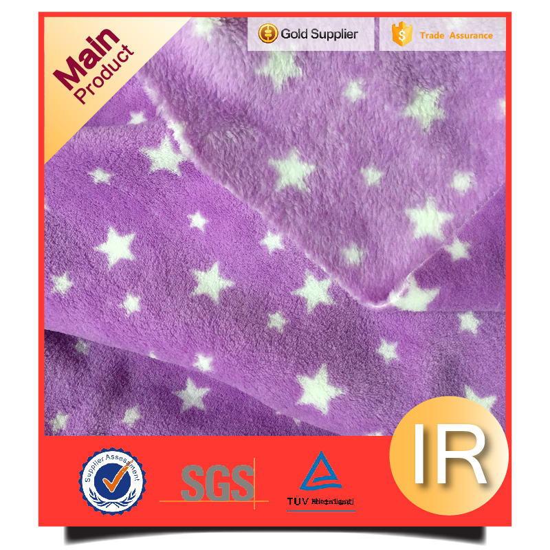 polyester coral fleece blanket fabric wholesale