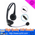 High quality call center headset with rj11 jack and QD cable available