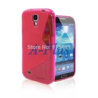 5pcs/lot New S Line TPU Soft Gel Rubber Skin Hard Cover Case For SAMSUNG GALAXY S4 SIV I9500 17065