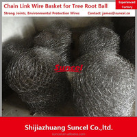 Suncel Chain link wire mesh tree basket /chain link transplant root ball netting