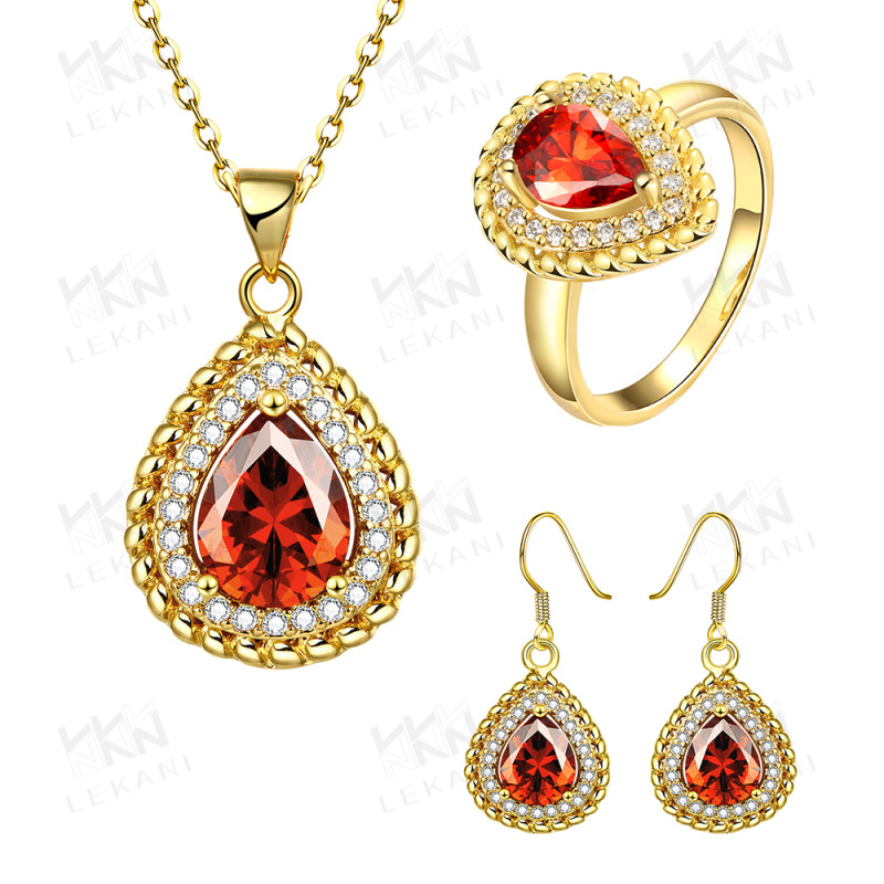 Gold plated antique jewelry indian bridal gold jewelry necklace set