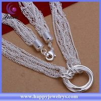 New exclusive design high quality 925 silver necklace indian emerald silver necklace CN264