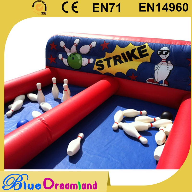 2016 hot collection giant inflatable bowling set game made in China
