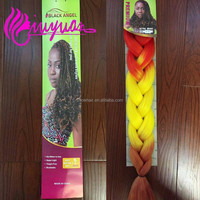 Top quality hot color rainbow brain hair extension for women