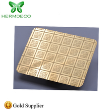 2019 hot sale 304 2mm gold color <strong>stainless</strong> steel panel for luxury hotel