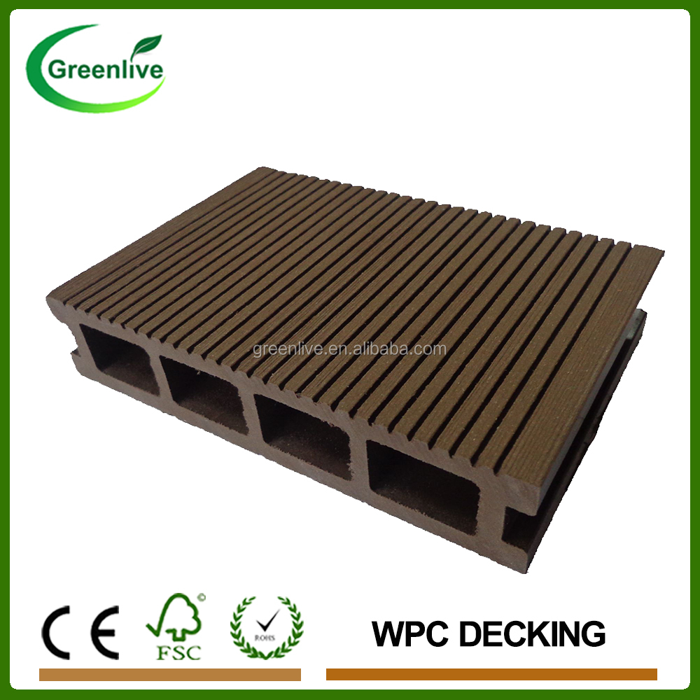 Eco wood plastic composite decking buy wood plastic for Plastic composite decking