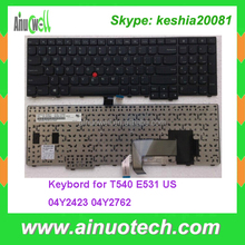 Laptop Keyboard for THINKPAD T540 E531 E540 T531 keyboards 04Y2652 04Y2423 04Y2762 US layout keyboard