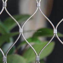 stainless steel bridge protection wire rope mesh fall-arrest mesh for bridge