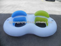 inflatable water twin lounge tube with drinking holder