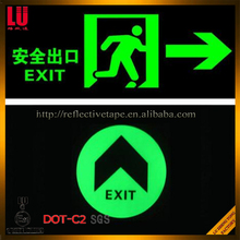PET Material Fluorescent Reflective Tape Glow in The Dark Film For Safety Sign