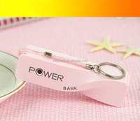 Factory direct sale perfume battery power bank 2600mah 1 USB output promotional gifts