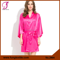 FUNG Item 2904 Silky Solid Satin Women Sexy Romantic Sleepwear
