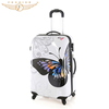 Butterfly Printing Woman Fashion Plastic Trolley Luggage