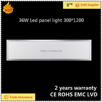China factory 36W led panel light 1200x300 price list