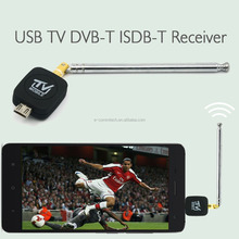 Mobile Phone DVB-T / ISDB-T Micro USB TV Antenna Tuner Pocket Receiver Antenna Adapter for Android Mobile Phone Equipment Tablet