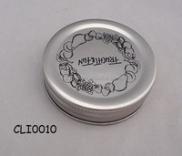Sliver color with black printing metal twist off glass jar metal lid